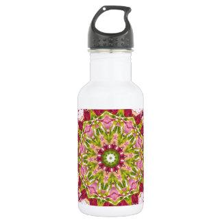 Olaのブーイングのピンク及び緑のKaleidescope ウォーターボトル