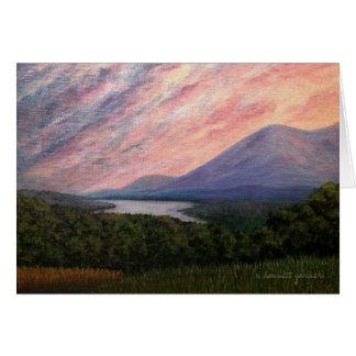 Olanaのアクリルの絵画のメッセージカードからの日没 カード