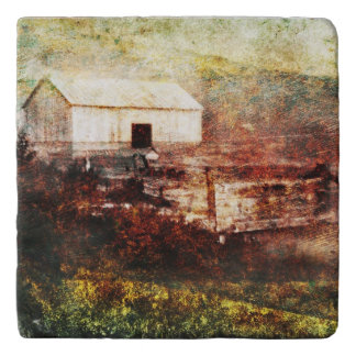 Old Barn Photo Painting Custom Trivet トリベット