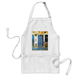 Old Vintage Greece Blue Door Boho Style スタンダードエプロン
