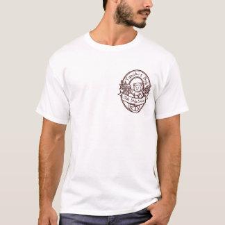Oldeのスタイルのポケット暗闇の輪郭 Tシャツ