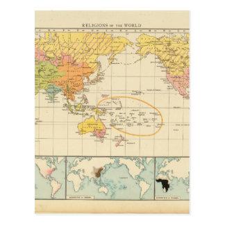 Oldish世界地図31 ポストカード