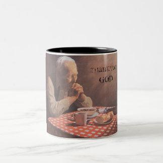oldman、ありがとう、神 ツートーンマグカップ