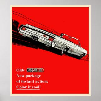 Olds 442のヴィンテージ広告 ポスター