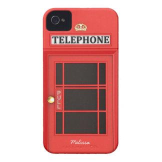 Oldschoolのイギリスの電話ボックス Case-Mate iPhone 4 ケース