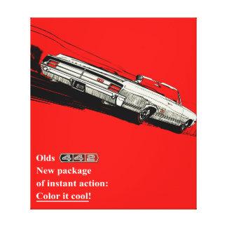 Oldsmobile 442のヴィンテージ広告 キャンバスプリント