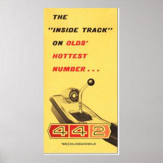 Oldsmobile 442 -ヴィンテージのフォルダーのページの再生 ポスター