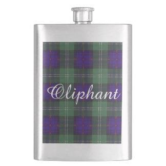 Oliphantの一族の格子縞のスコットランドのキルトのタータンチェック フラスク