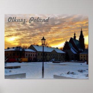 Olkusz、ポーランド ポスター