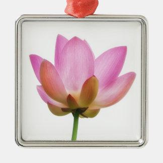 Omのはすピンクの花の花びら メタルオーナメント