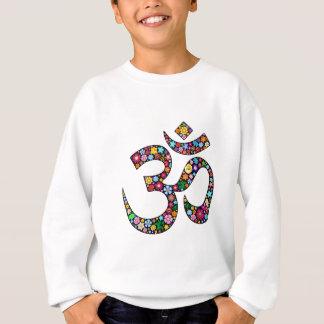 Omのオウムのナマステのヨガの記号 スウェットシャツ