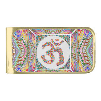 Omの信念の宝石のコレクション 金色 マネークリップ