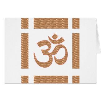 OMの信念のOmMANTRAの詠唱の表示は平和を直します カード