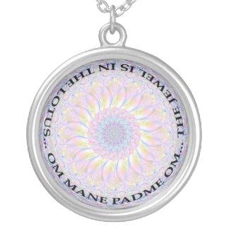 Omの宝石のネックレス シルバープレートネックレス