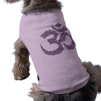 Omの記号犬のワイシャツ ペット服