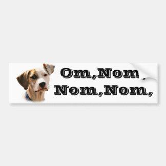 Omのnom、nom、nom、 バンパーステッカー