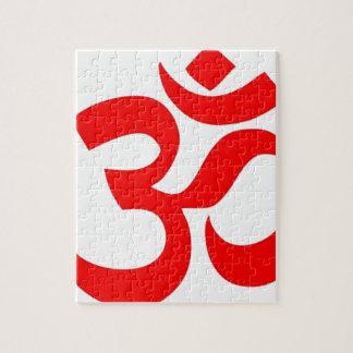 Om (ॐの) -ヒンズー教および仏教の記号 ジグソーパズル