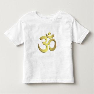Om (オウム)のナマステのヨガの記号の幼児のワイシャツ トドラーTシャツ