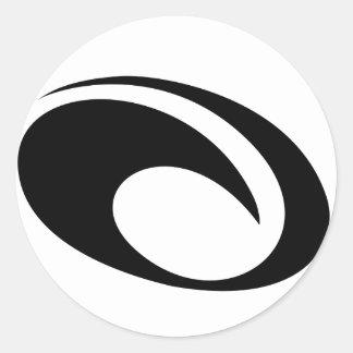 OMauiの波のロゴ ラウンドシール