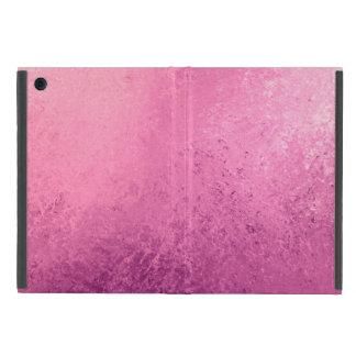 Ombréのピンクの紫色の水彩画のグランジで素朴なプリント iPad Mini ケース
