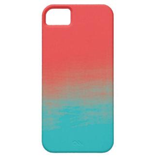 Ombreの水彩画の質-ティール(緑がかった色)および珊瑚 iPhone SE/5/5s ケース