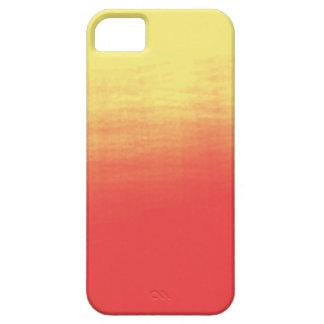 Ombreの水彩画の質-黄色および珊瑚の日没 iPhone SE/5/5s ケース