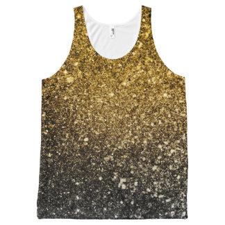Ombre glitter sparkling オールオーバープリントタンクトップ