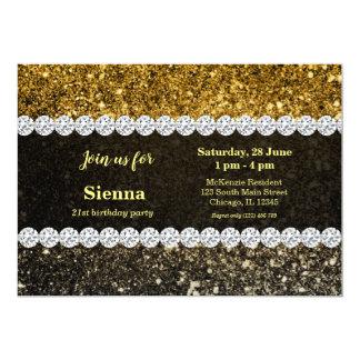 Ombre glitter sparkling カード