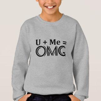 OMGの同等化。  + 私= O.M.G. スウェットシャツ