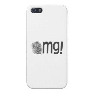omgの指紋の文字 iPhone 5 ケース