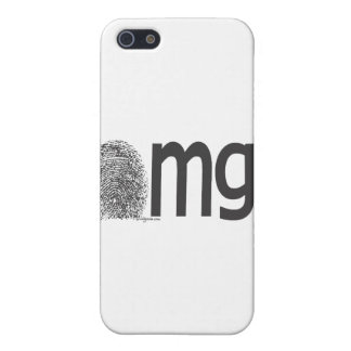 omgの指紋の文字 iPhone 5 cover