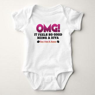 OMGはそうよい花型女性歌手の赤ん坊のクリーパーあを感じます ベビーボディスーツ