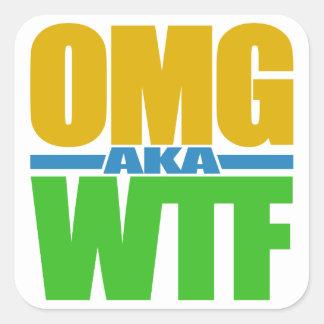 OMG別名WTFのカスタムのステッカー スクエアシール