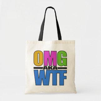 OMG別名WTFのバッグ-スタイル及び色を選んで下さい トートバッグ