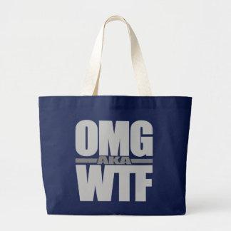 OMG別名WTFのバッグ-スタイル及び色を選んで下さい ラージトートバッグ