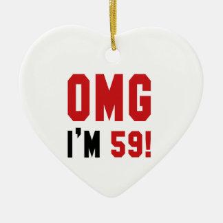 OMG私は59才です! セラミックオーナメント