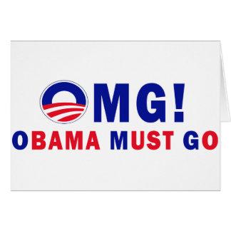 OMG! オバマは行かなければなりません! カード