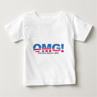OMG: オバマは行かなければなりません! ベビーTシャツ
