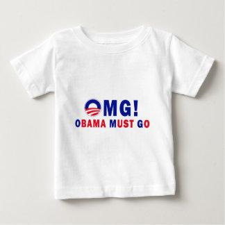 OMG! オバマは行かなければなりません! ベビーTシャツ