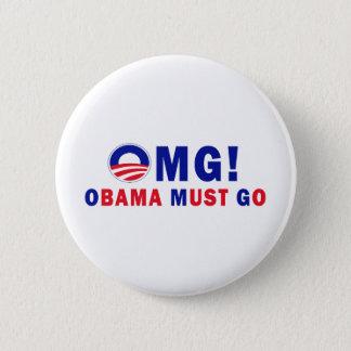 OMG! オバマは行かなければなりません! 5.7CM 丸型バッジ