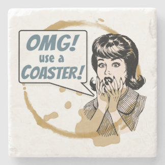 OMG! コースターを使用して下さい! おもしろいなレトロのコーヒーリング ストーンコースター