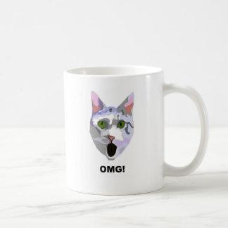 OMG! 彼が見た何をCAT 「か。「 コーヒーマグカップ
