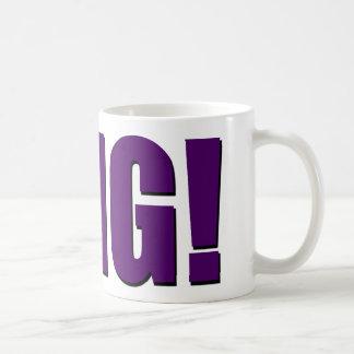 OMG! 紫色 コーヒーマグカップ