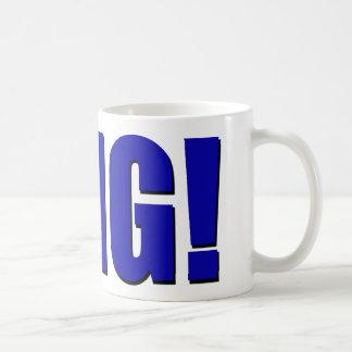 OMG! 青い コーヒーマグカップ