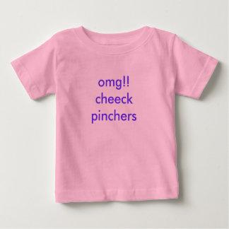omg!! cheeckのpinchers ベビーTシャツ