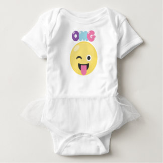 OMG Emoji ベビーボディスーツ