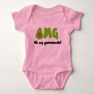 OMG Oh私のグアカモーレ-おもしろいなベビーの衣服 ベビーボディスーツ
