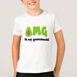 OMG Oh私のグアカモーレ-子供へおもしろいな食糧ティー Tシャツ