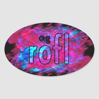 OMG! rofl 楕円形シール