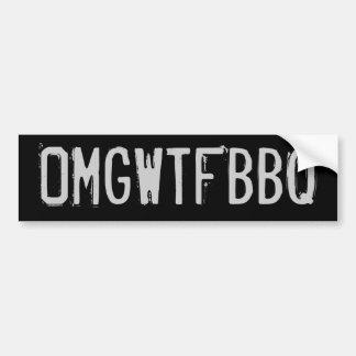 OMGWTFBBQ バンパーステッカー